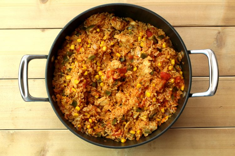 This is a delicious recipe for cajun chicken jambalaya