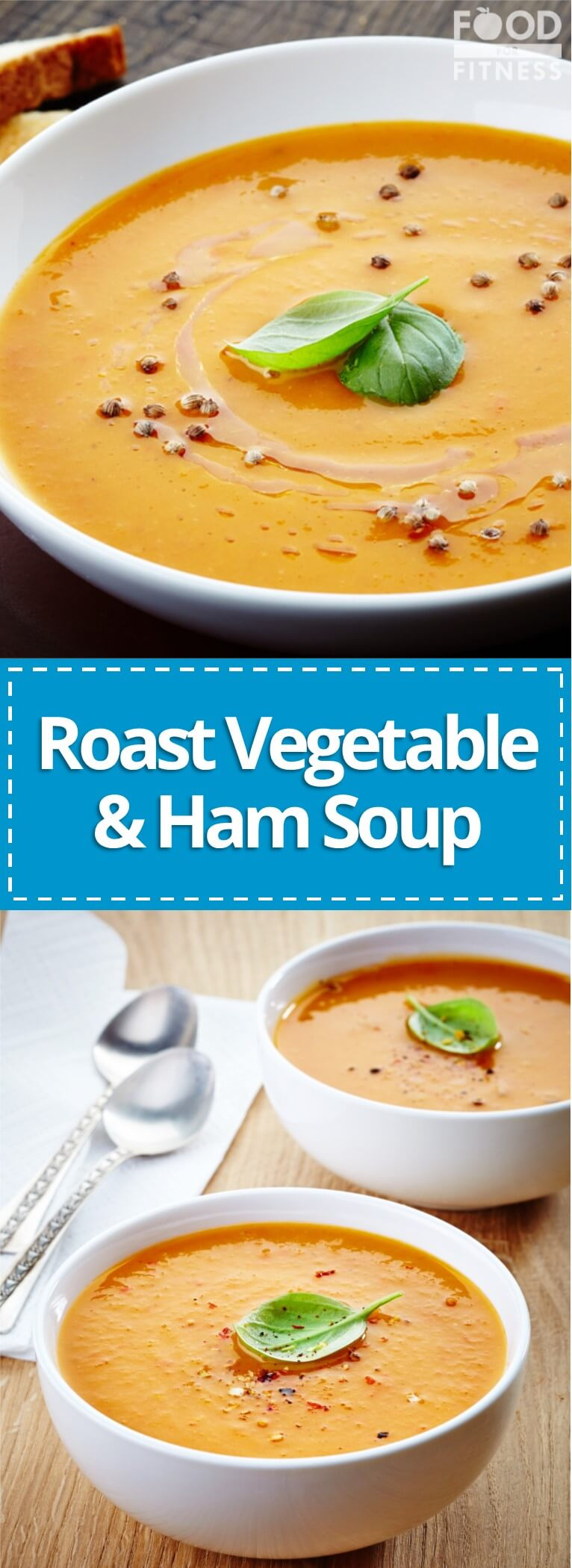 Roast vegetable and ham soup recipe