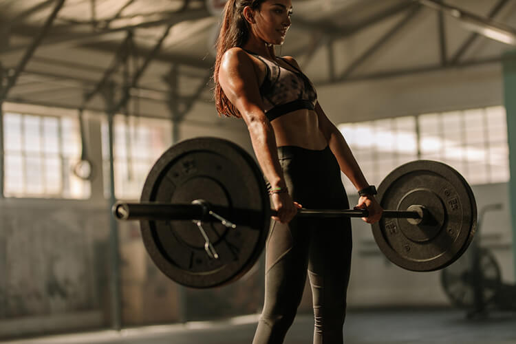 standing powerlifting woman, powerlifting